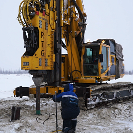 Pile penetration drilling metho